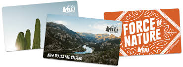 an ortment of rei gift cards