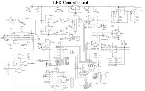 led panel wiring diagram led image wiring diagram dot matrix led running display v2 0 electronics lab on led panel wiring diagram