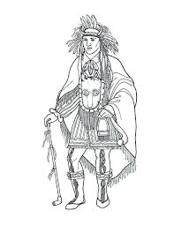 Coloring Pages Native American Coloring Pages Free Awesome Chief