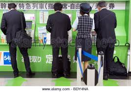 Vending Machine Attendant Best Japanese People Buying Tickets Of Train From Automatic Vending Stock