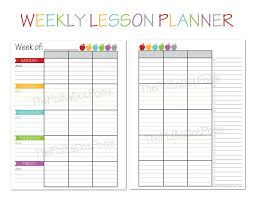 Teacher Weekly Planners The Polka Dot Posie New Teacher Homeschool Planners Plan It