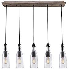 wood pendant lighting. LNC Wood Pendant Lighting 5-light Ceiling Lights Linear Chandelier O