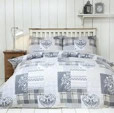 cotton kingsize duvet covers alpine patchwork cover set brushed natural super king zoom 100 size grey