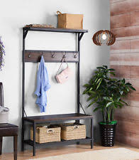 Coat Rack And Shoe Storage Entryway Bench Coat Rack EBay 99