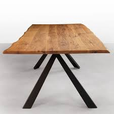 modern metal furniture legs. avedon live edge solid wood dining table with metal legs walnut or oak modern furniture