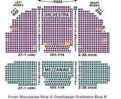 Springsteen On Broadway Seating Chart Broadhurst Theatre Seating Chart Row Seat Numbers