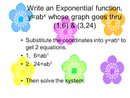 3 write an exponential function y abx whose graph