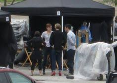veronica roth on set of the divergent film