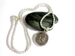 sncient roman coin sterling silver necklace constantius