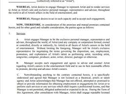 music management contract 26 artist management agreement template best photos of artist