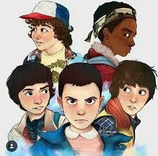 Stranger Things. Dustin, Lucas, Mike, Will, and Eleven. | Stranger things  anime, Netflix filmes e series, Bagulhos sinistros
