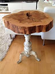 table recycled materials. Using Recycled Materials For DIY Tree Stump Table? Why Not? Table E