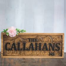 Lake Cabin Decorating Buy A Handmade Family Names Sign Wood Cabin Sign Rustic Cabin