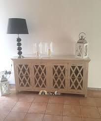 distressed white wood furniture. diamond paned distressed white sideboard in mango wood furniture