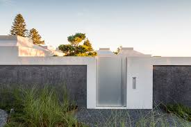 concrete fence design. Brilliant Concrete Exposed Concrete Fence And Frosted Glass Door Ideas For Design L