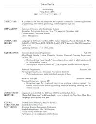 Examples Of Resume For Job Application Resume For Job Application ...