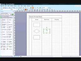 cross function flow chart creating cross functional flow chart in visio 2007 youtube