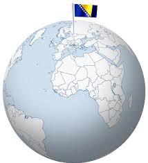Afbeeldingsresultaat voor bosnia and herzegovina globe map