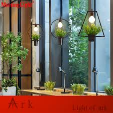 warehouse style lighting. Restaurant Lamp Indoor Lighting Plastic Bonsai Vintage Pendant Light LED Lights Warehouse Style Fixture-in From \u0026