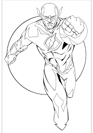 Supereroe Flash Disegno Da Colorare The Baltic Post