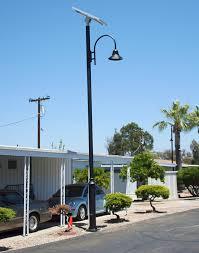 Heritage Light Solar Pole Light Double With PoleSolar Pole Lighting