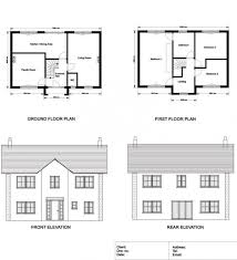 home plan elevation section unique ground floor and first floor plan elevations and sections a