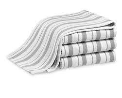 williams sonoma classic striped towels set of 4 drizzle grey williams sonoma