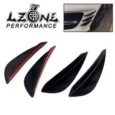 Online Shop LZONE - <b>Universal 4pcs Fit</b> Front Bumper Lip Splitter ...