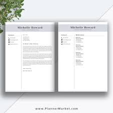 Creative Resume Cover Letter Professional Resume Template CV Template Creative Resume Design 4