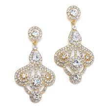 gold vintage style chandelier earrings