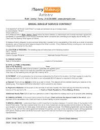 sle bridal hair and makeup contract