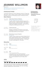 High School Science Teacher Resume samples