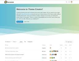 themes create theme creator create and show themes without installing discourse