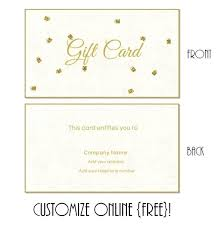 Printable Blank Cards Free Printable Gift Card Templates That Can Be Customized