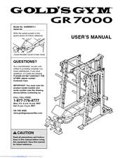 Golds Gym Gr 7000 Ggbe6974 1 User Manual Pdf Download