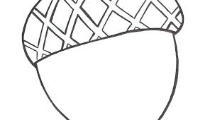 Acorn Coloring Page Acorns Pages Craft Fall