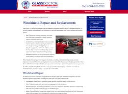 web copy services for glass doctor of north vancouver