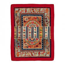 vintage tibetan saddle rug 2 4 x3