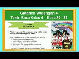 Latihan soal tkm bahasa jawa worksheet Gladhen Wulangan 4 Tantri Basa Kelas 4 Hal 80 82 Bab 4 Sregep Makarya Youtube