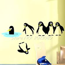penguin wall decal penguin wall de with penguin wall stickers home cor whole wall for