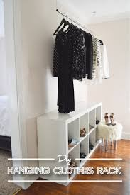 Diy Hanging Clothes Rack Dandylione In Addition To Interesting Hanging  Clothes Rack (View 16 of