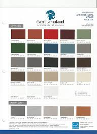 Metal Sales Color Chart Sentriclad Color Chart Whaleyville Tull Lumber Sales