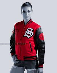 varsity letterman jacket faux leather mens women jackets