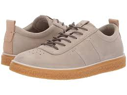 Ecco Crepetray Lace Up Womens Shoes Sage Nubuck Leather In