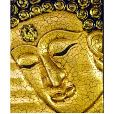 buddha face wall hanging painting in