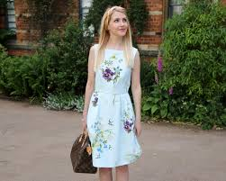 wedding guest inspiration with ted baker rebecca coco Wedding Guest Dresses Ted Baker this beautiful dress is the loolina skater dress from ted baker the dress flows to just slightly above the knee and is in a gorgeous spring meadows print Wedding Dresses De Charro