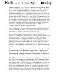 Reflection Essay Internship Experience