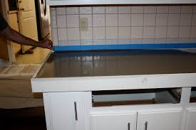 Concrete Overlay Countertops Diy Remodelaholic Quick Install Of Concrete Countertops Kitchen