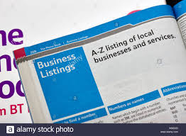 Telephone Listing A Z Business Listings In The Bt Local Telephone Directory Paper