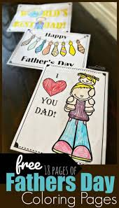 This year, i have created free printable cards that you can print out and have your kids color for their dad. Free Fathers Day Coloring Pages
